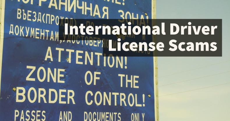 International Driver License Scams