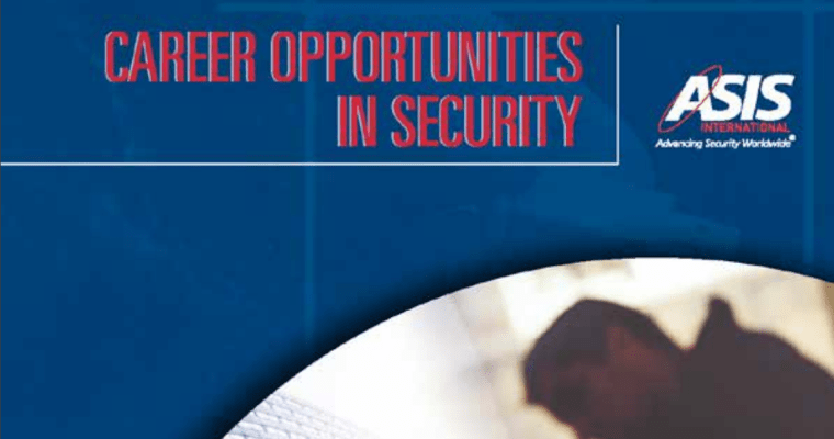 ASIS Career Opportunities in Security