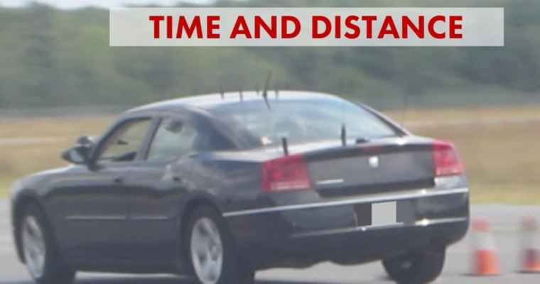 Time and Distance - vehicle dynamics