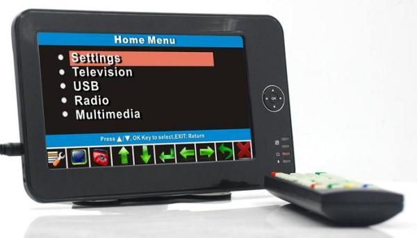 Portable handheld HD DVB-T dvb-t TV receive box 1 -