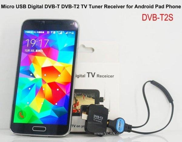 Micro USB Digital DVB-T DVB-T2 TV Tuner Receiver 1 -