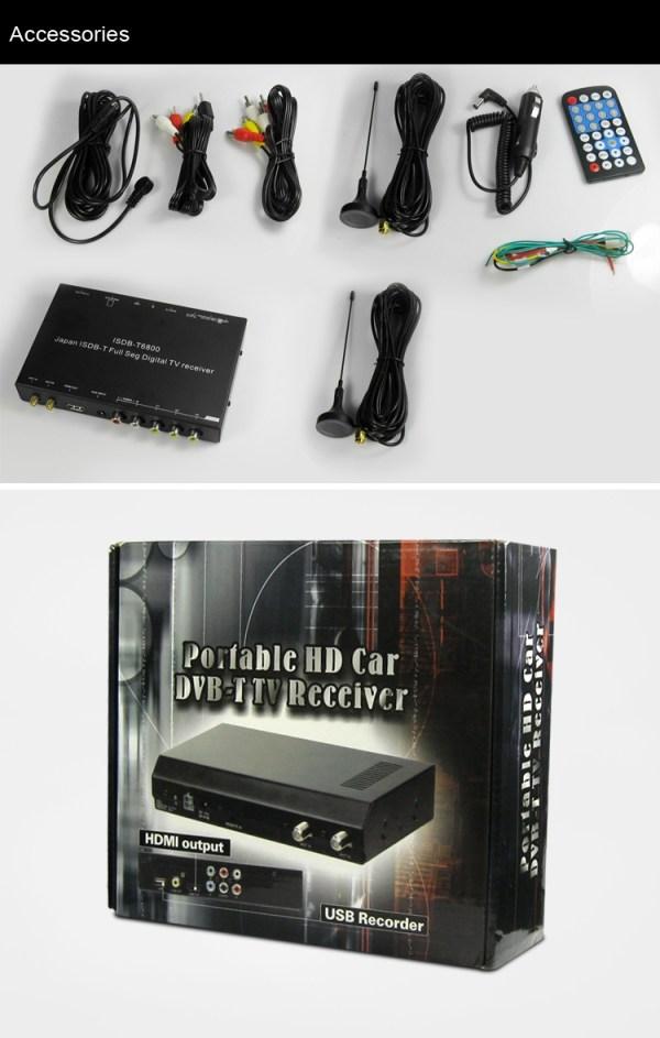 Japan car ISDB-T full with 1 seg digital tv tuner B-CAS 11 -
