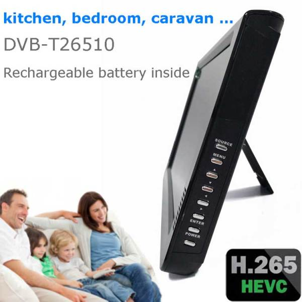 10 DVB-T2 H265 HEVC AC3 Codec Portable TV PVR Multimedia Player Analog kitchen bedroom car DVB-T26510 5 -
