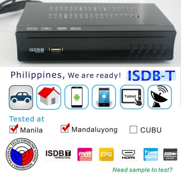 Philippines Home ISDB-T Digital TV Receiver 2 -
