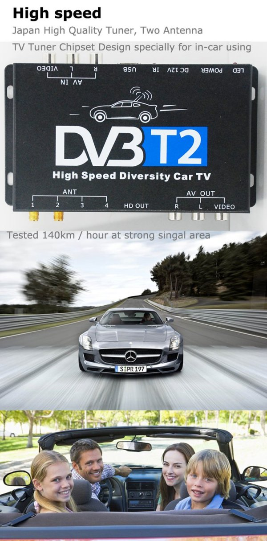 Car DVB-T2 DVB-T MULTI PLP Digital TV Receiver 3 -