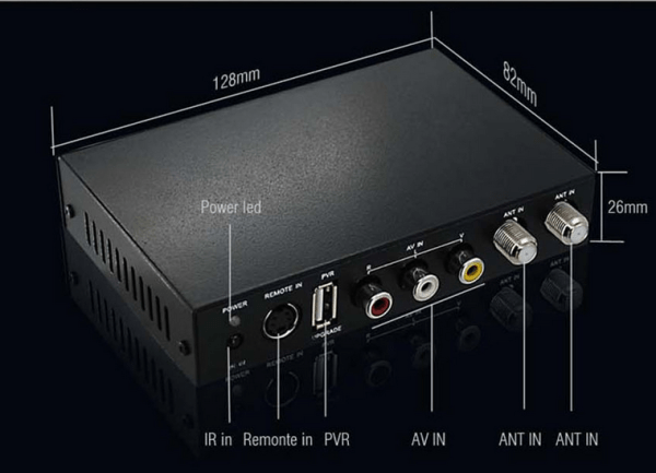DVB-T2100HD Car DVB-T MPEG4 H.264 tv receiver with 2 tuner PVR USB Record 4 -