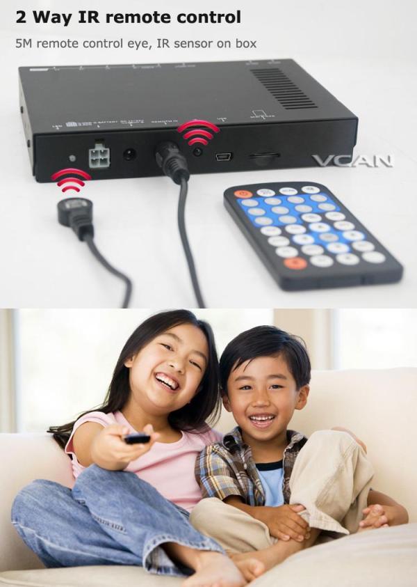 Car DVB-T digital tv receiver 2 antenna tuner TNT TDT 5 -