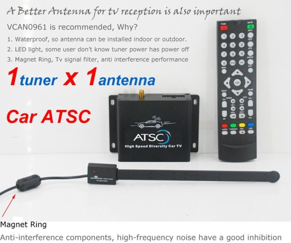 Car ATSC Digital TV receiver for USA Canada Mexico 5 -