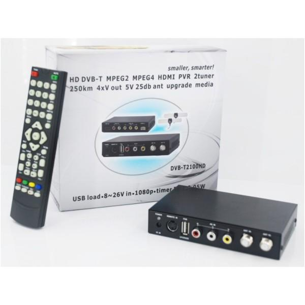 DVB-T2100HD Car DVB-T MPEG4 H.264 2 tuner Digital TV receiver 2 tuner 2 antenna 6 -
