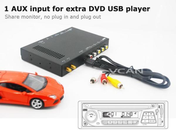 Car DVB-T digital tv receiver 2 antenna tuner TNT TDT 6 -