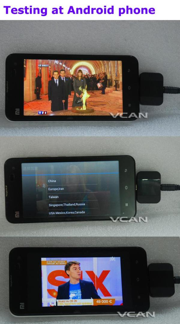 Android DVB-T2 DVB-T TV receiver for Phone Pad Micro USB TV tuner apk 6 -