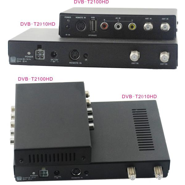 DVB-T2100HD Car DVB-T MPEG4 H.264 2 tuner Digital TV receiver 2 tuner 2 antenna 8 -