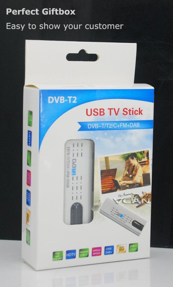 USB DVB-T2 PC DTV receiver DVB-T2 DVB-T DVB-C SDR FM DAB TV stick 6 -