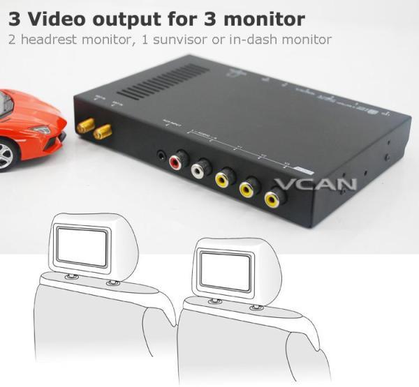 Car DVB-T digital tv receiver 2 antenna tuner TNT TDT 3 -