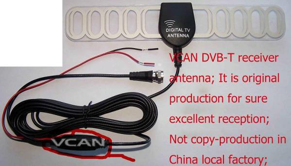ANT-003A Digital TV DVB-T antenna aerial built-in signal enlarger booster 5 -