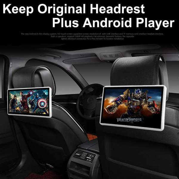 Android Headrest Player 11.6 inch IPS HD Monitor With WiFi Speaker Bluetooth FM transmitter Seat Touch Screen 12V 2PCS Pair 1 -