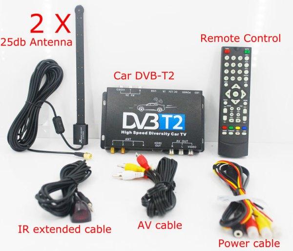 Car DVB-T2 DVB-T High Speed Digital TV Receiver automobile DTV box DVB-T221 5 -