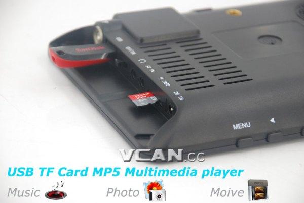 7 DVB-T2 7 inch Digital TV monitor Analog TV USB TF MP5 player AV in Rechargeable Battery 2 -