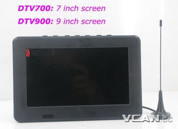 DTV900 DVB-T2 DVB-T ATSC ISDB-T 9 inch Digital TV Analog TV USB TF MP5 player AV in Rechargeable Battery 6 -