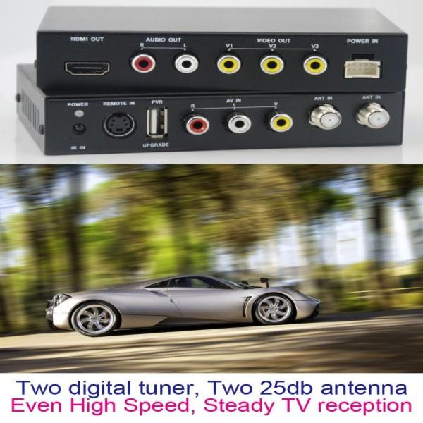 DVB-T2100HD Car DVB-T MPEG4 H.264 tv receiver with 2 tuner PVR USB Record 5 -