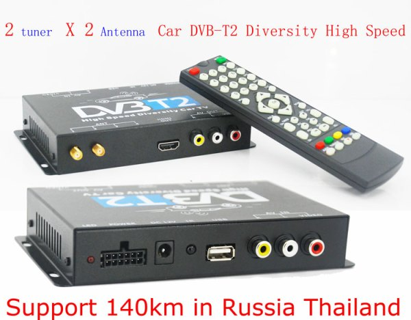 2 antenna car DVB-T2 Two tuner tv Diversity USB HDMI HDTV High Speed dvb-t22 1 -