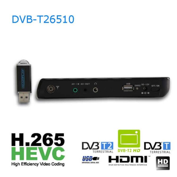 10 DVB-T2 H265 HEVC AC3 Codec Portable TV PVR Multimedia Player Analog kitchen bedroom car DVB-T26510 6 -