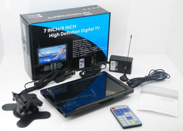 DVB-T29 9 inch portable DVB-T2 LCD TV monitor HD FTA Freenet H265 HEVC Codec 4 -