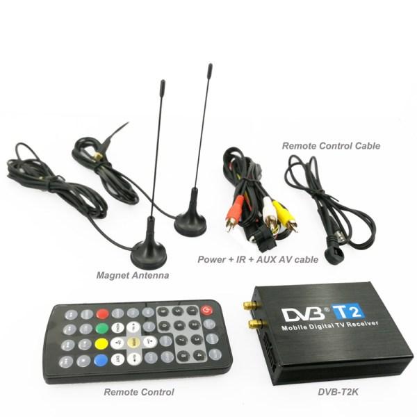 Cheap Car DVB-T2 DVB-T USB HDMI High Speed HD SD TV receiver 2 Antenna tuner 3 -