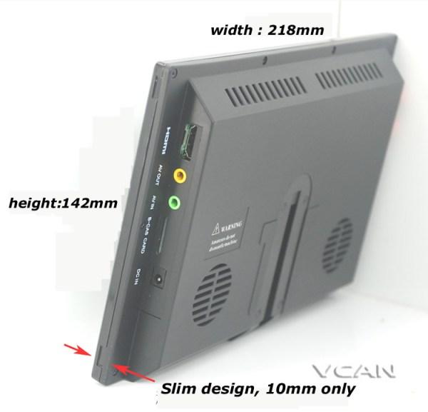 ISDB-T9 9 inch isdb-t full seg digital tv b-cas 2x2 tuner antenna with GPS / FM transmitter 4 -