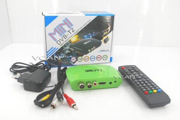 DVB-T2M8 Mini HD DVB-T2 Home H.264 Set Top Box with USB support PVR /Multi-language 1 -