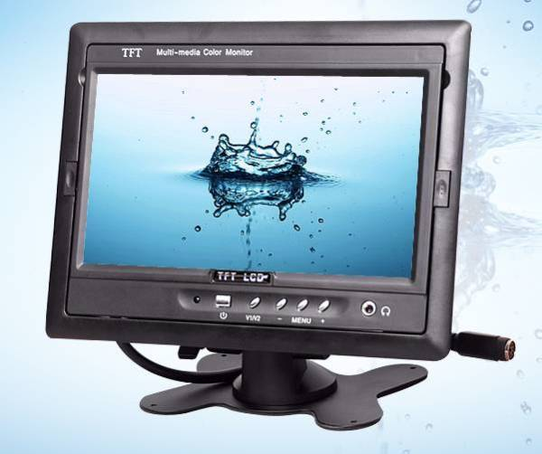 TM-7003A Car 7 inch TFT LCD Monitor 2CH Video Input rear view 1 -
