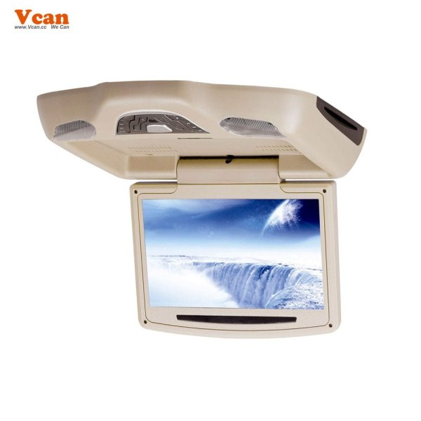 10.2 inch roof mount monitor usb sd dvd player ceiling flip down screen tm-1020 5 -