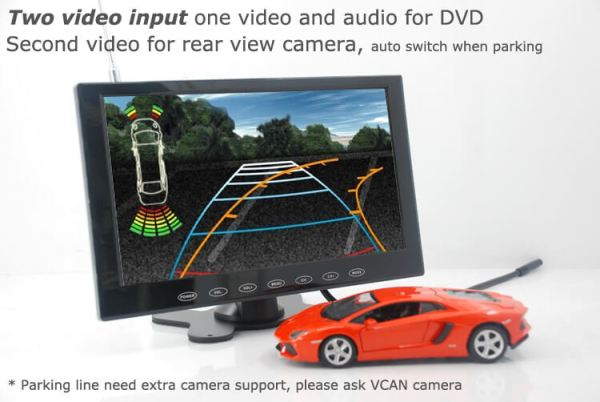 9 inch monitor with USB SD mp5 player Vcan0951 12 -
