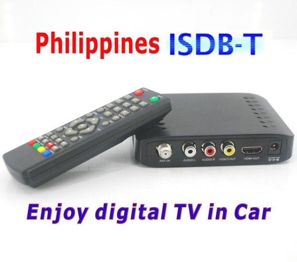 VCAN1092 Car ISDB-T Philippines Digital TV Receiver black box MPEG4 HDMI USB PVR Remote 1 -