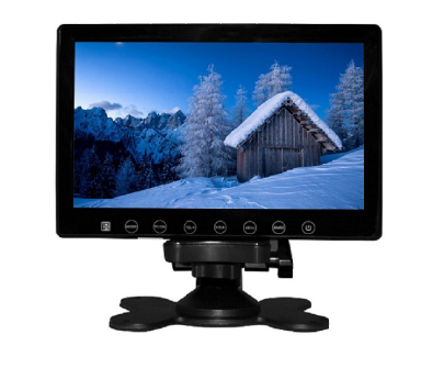 VCAN1412 7inch car digital lcd screen monitor with touch button and 2 way video input 1 -