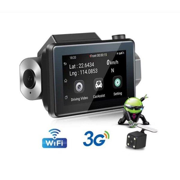 Android DVR dashcam car camera 3.0 inch full 1080 HD GPS logger dual camera video recorder Vcan1608 1 -