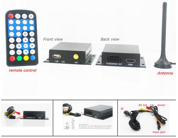 ATSC Car TV Digital receiver for USA Canada Mexico ATSC-201 1 -