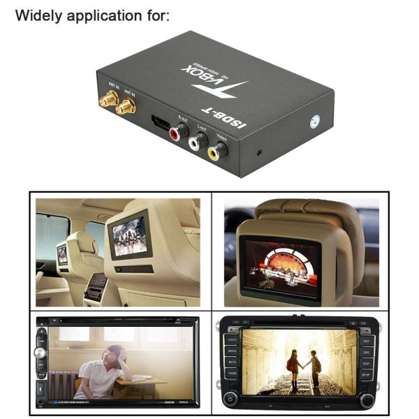 Car ISDB Digital TV 2 antenna ISDB-T Mobile Digital TV Decoder Receiver for Japan brazil chile Peru High-Speed Full Segment Dual Antenna 2 -