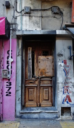 Montevideo old wooden door