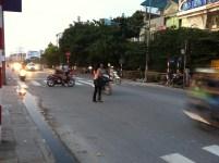 Crossing the street in Hanoi 2