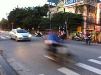 Crossing the street in Hanoi 4