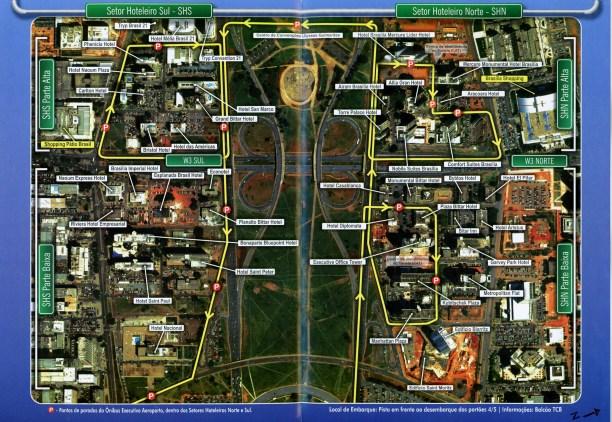 Brasilia bus map printable route map