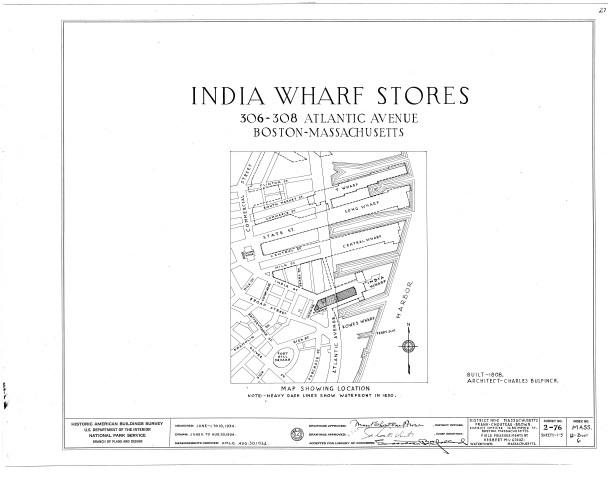 India Wharf Boston plans