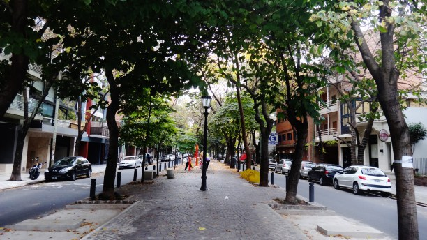 Buenos Aires Las Canitas tree-lined street
