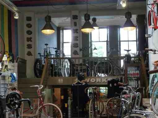 books and bikes -Lola cafe