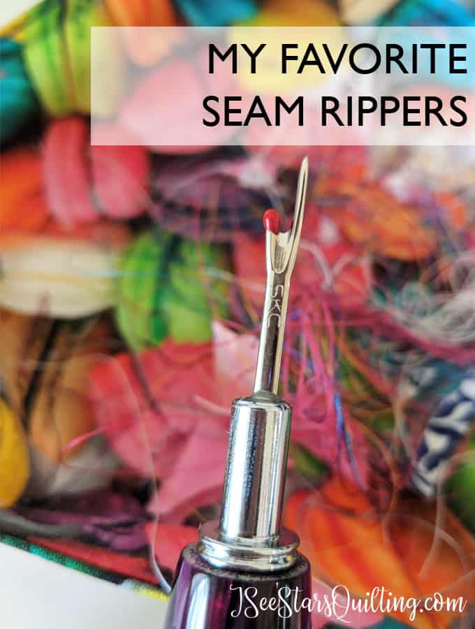 a part of every sewing project. the seam ripper? which ones rate the best and which ones didn't pass the test?