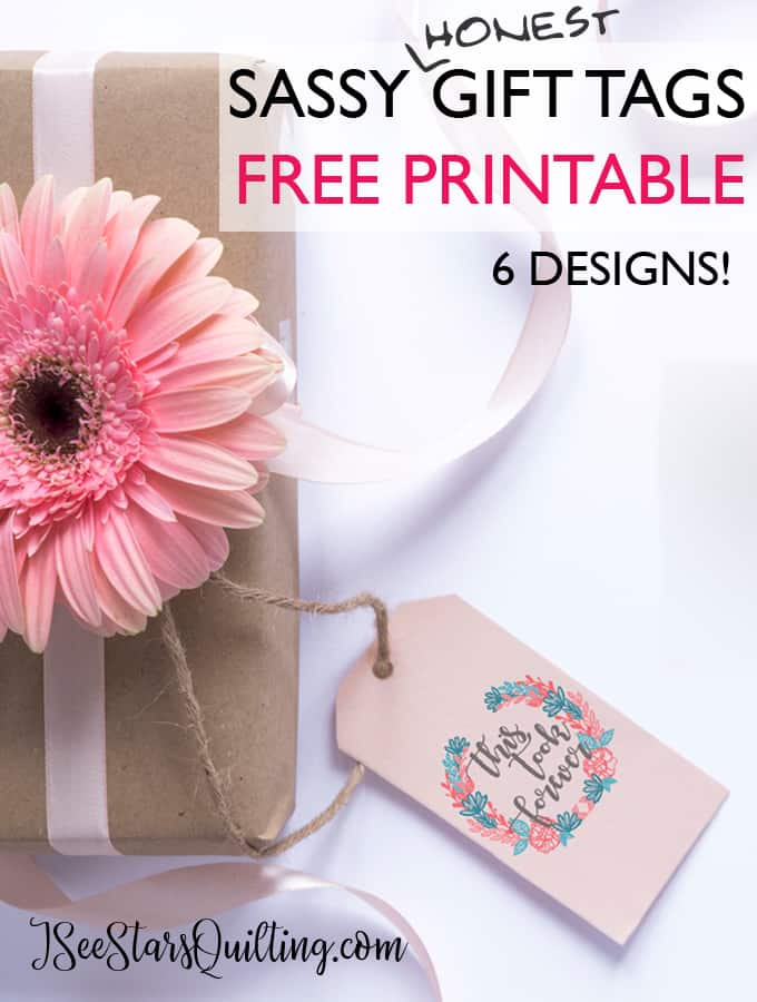 These sassy printable gift tags are available for FREE download! Perfect for use on every single gift DIY gift!