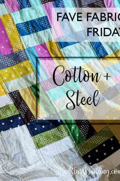 Fave Fabric Friday - Cotton + Steel | Explore the workings of this massive modern fabric giant and links to free quilting patterns!