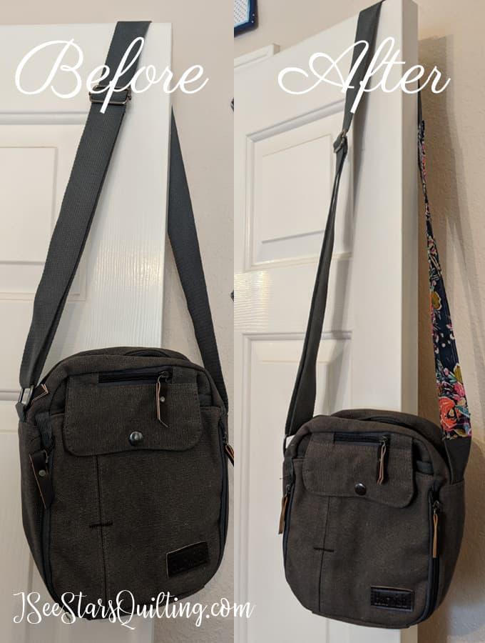 how to make a bag strap longer