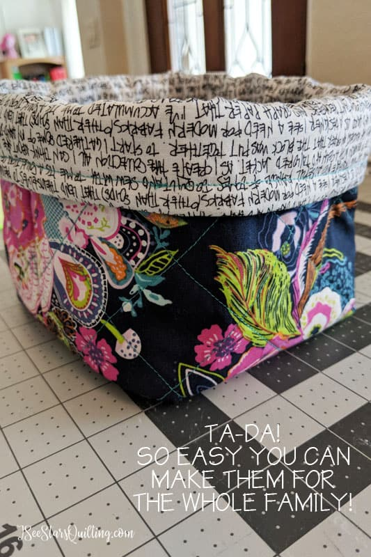 The Perfect (easy) Catch all the mess fabric bin